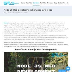 Node Js Web Development Services In Toronto