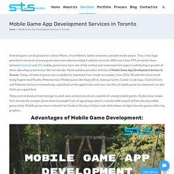 Mobile Game App Development Services In Toronto