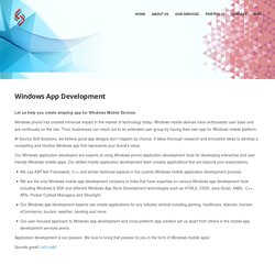 Windows Phone Apps Development Services