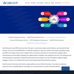 Custom Zend Framework Web Development Services: SigmaSolve
