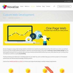 Custom Web Development in Singapore