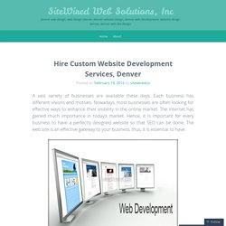 Hire Custom Website Development Services, Denver