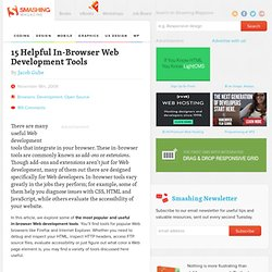 15 Helpful In-Browser Web Development Tools | Developer's T