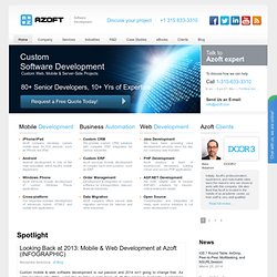 Custom Software Development, Web Development - Azoft Company