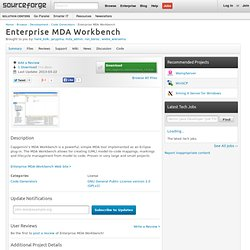 Enterprise MDA Workbench