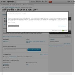 Wikipedia Concept Extractor | Free Development software downloads at SourceForge