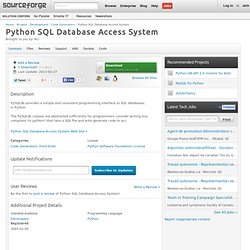 Python SQL Database Access System