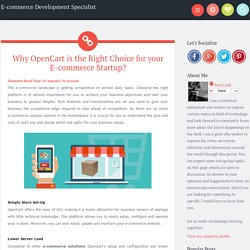 Why OpenCart is the Right Choice for your E-commerce Startup? ~ E-commerce Development Specialist