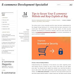 Tips to Secure Your E-commerce Website and Keep Exploits at Bay