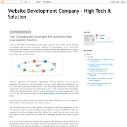 Website Development Company - High Tech It Solution: Hire Dedicated.Net Developer For Successful Web Development Solution