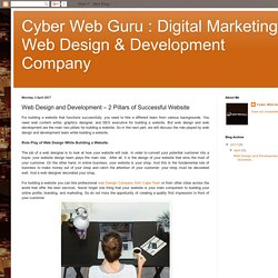 Web Design and Development – 2 Pillars of Successful Website
