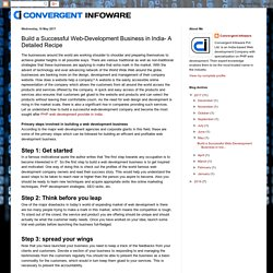 Web Design, Development & Digital Marketing Company in India: Build a Successful Web-Development Business in India- A Detailed Recipe