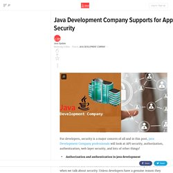 Java Development Company Supports for App Security