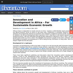 Innovation and Development in Africa For Sustainable Economic Growth