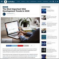 The Most Important Web Development Trends in 2020
