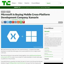 Microsoft Is Buying Mobile Cross-Platform Development Company Xamarin