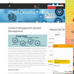 CMS Website Design & Development Company,Dubai