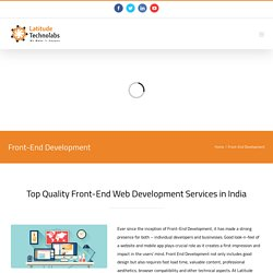 Leading front-end development company in India