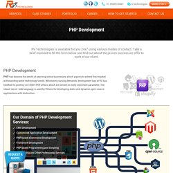 Php Web Development Company in Chandigarh, India - RV Technologies