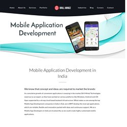Mobile Apps Development In India- Brill Mindz Technologies