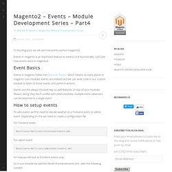 Magento2 - Events - Module Development Series - Part4 - Excellence Technologies Magento Blog