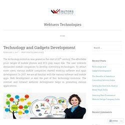 Technology and Gadgets Development