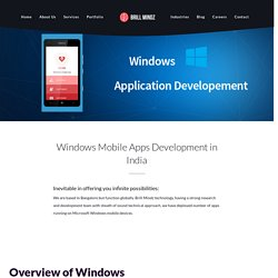 windows app developers in HSR Layout, Bangalore- Brill Mindz Technologies