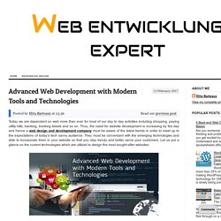 Advanced Web Development with Modern Tools and Technologies