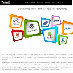 Web development Singapore - eSourceIt Technologies