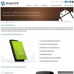 Android App Development Company - Scalsys Technologies