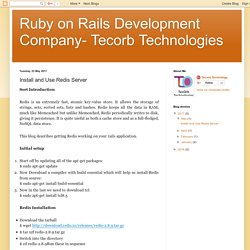 Ruby on Rails Development Company- Tecorb Technologies: Install and Use Redis Server