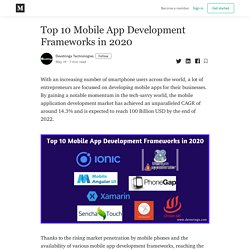 Top 10 Mobile App Development Frameworks in 2020 - Devstringx Technologies - Medium