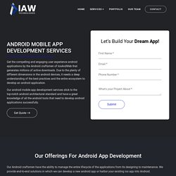 Android App Development Services - IAW Technologies
