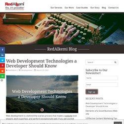 Web Development Technologies a Developer Should Know - RedAlkemi
