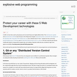 Protect your career with these 5 Web Development technologies
