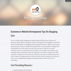 Ecommerce Website Development Tips On Shopping Cart « Mobile Technology