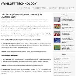 Top 10 Shopify Development Company in Australia 2021