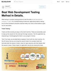 Best Web Development Testing Method in Details.