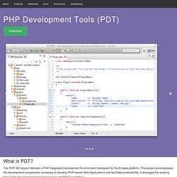 PHP Development Tools (PDT) - Downloads