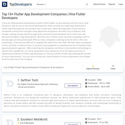 Top 10+ Flutter App Development Companies & Developers Reviews 2019 - Topdevelopers.co