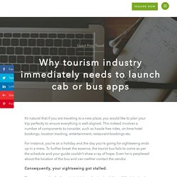 Taxi App development for tourism industry