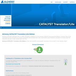 Alchemy CATALYST Translator/Lite Edition