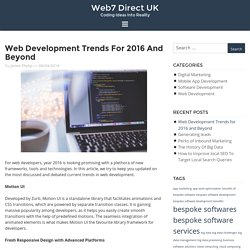 Web Development Trends for 2016 and Beyond