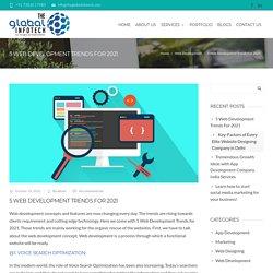 5 Web Development Trends For 2021 - The Global Infotech