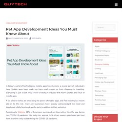 Pet App Development Ideas and Trends for Startups