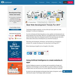 Best Web Development Trends For 2017! - Usersnap