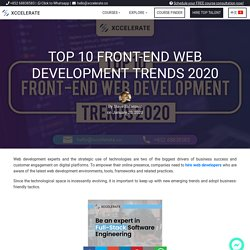 Top 10 Front-end web development trends 2020
