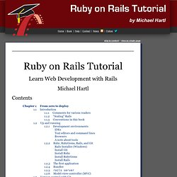 Ruby on Rails Tutorial: Learn Rails by Example | Ruby on Rails 3 Tutorial book and screencasts | Beginning