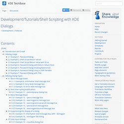 Development/Tutorials/Shell Scripting with KDE Dialogs - KDE TechBase