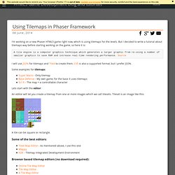 HTML5 Game Development Blog and Tutorials - Using Tilemaps in Phaser Framework